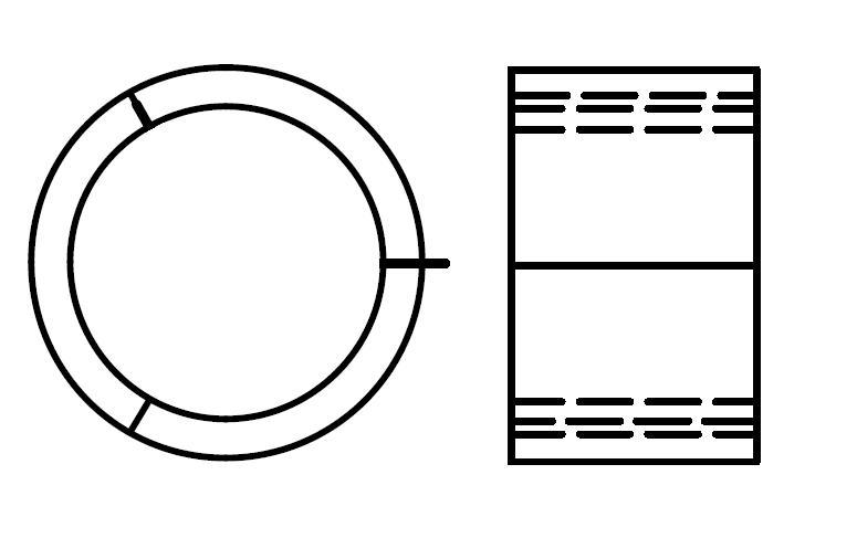 円筒形状の発泡スチロールの図面