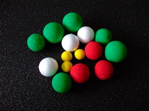 分子模型用に塗装された球