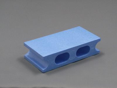ブルーのカラーブロック