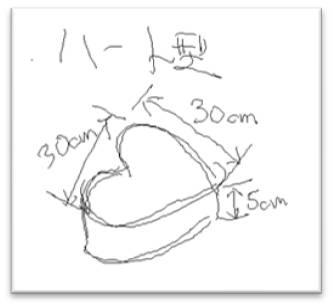 ハート型発泡スチロール 図面